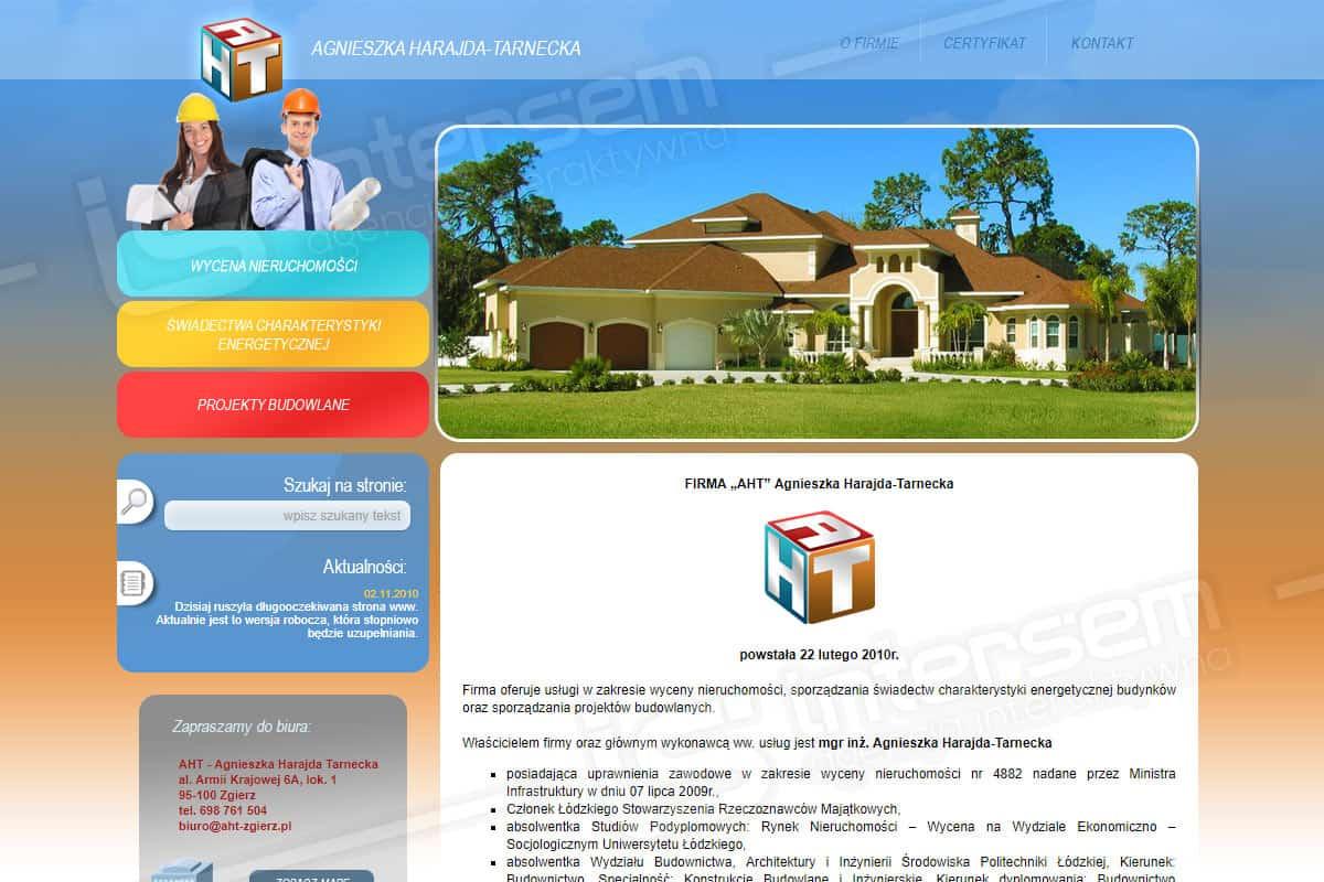 Strona internetowa - AHT - Wycena nieruchomości