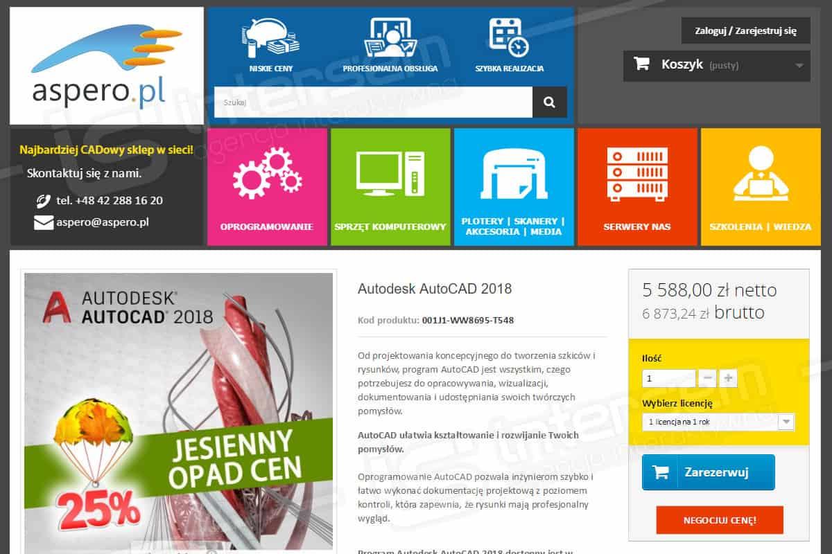 Sklep internetowy - Aspero.pl - Najbardziej CADowy sklep w sieci