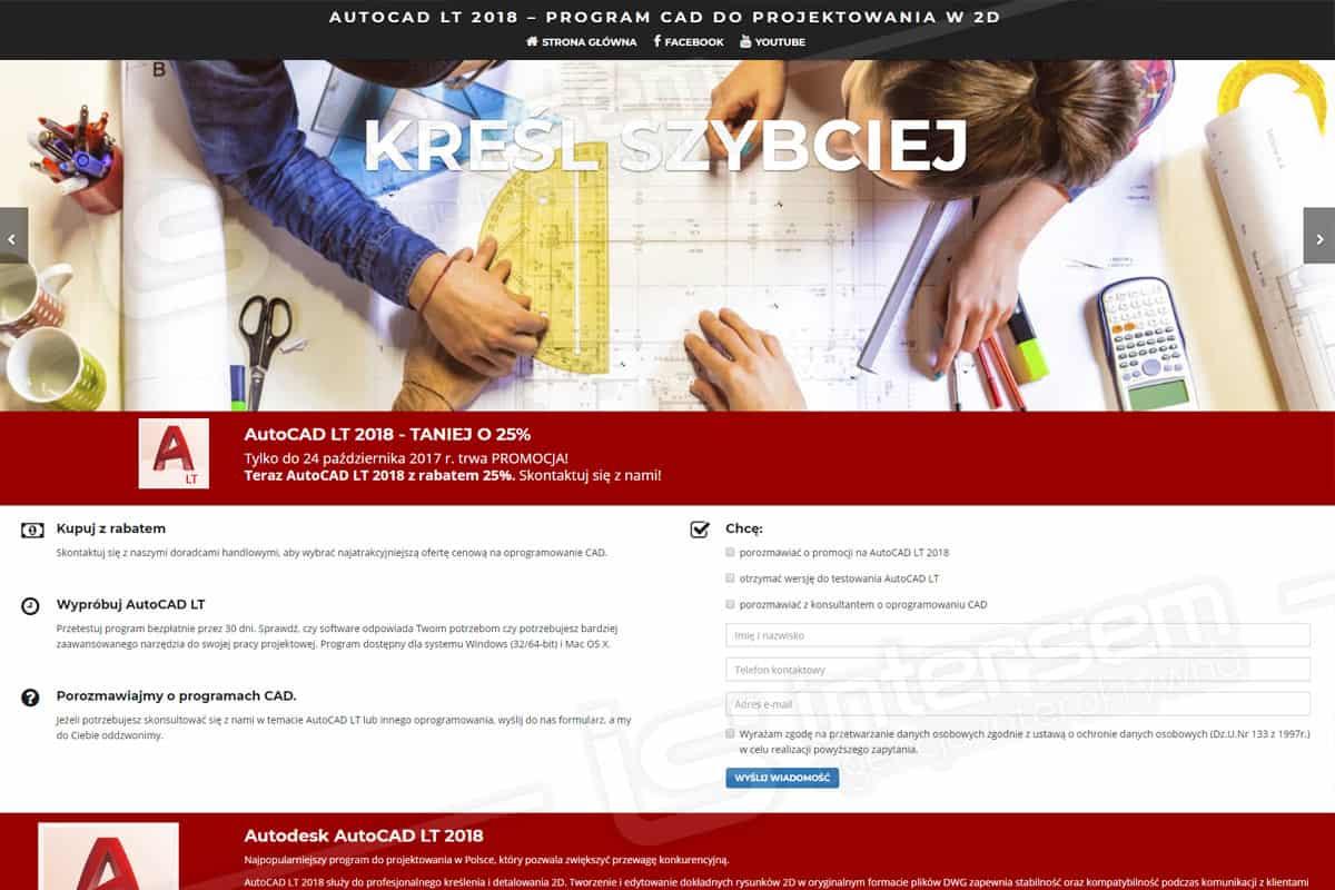 Strona internetowa - AutoCAD LT - Program do projektowania