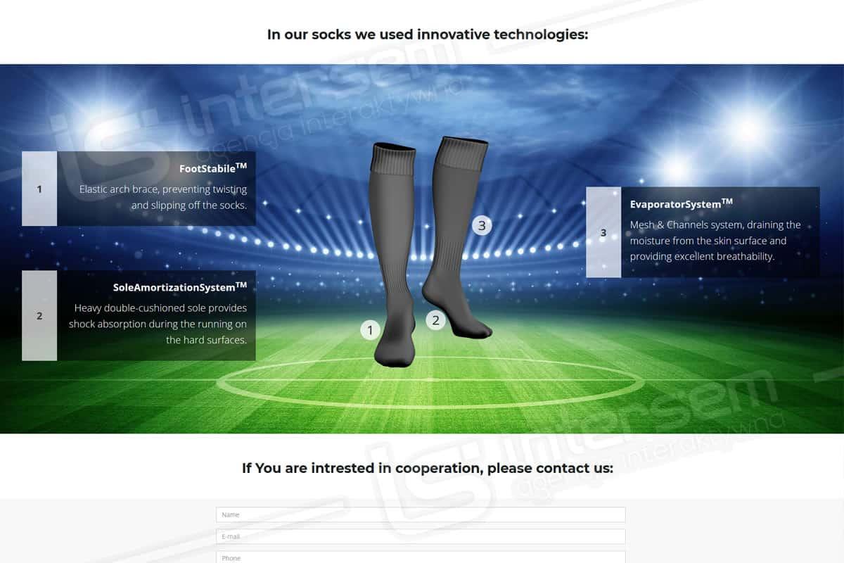 Strona internetowa - Euro Production - Producent getrów piłkarskich