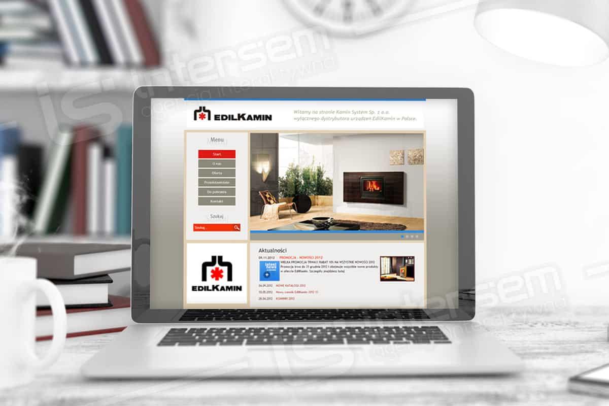 Strona internetowa - Kamin System - dystrybutor kominków i piecyków na pellett