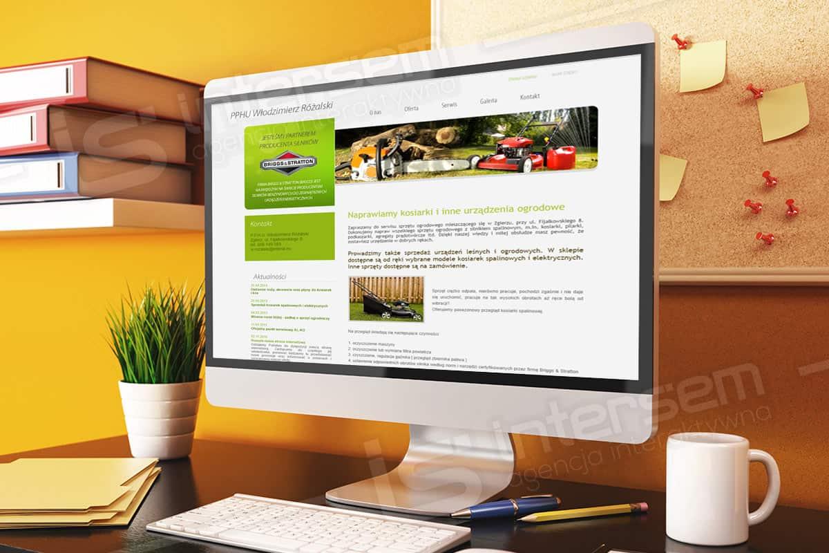 Strona internetowa - Kosiarki Naprawa