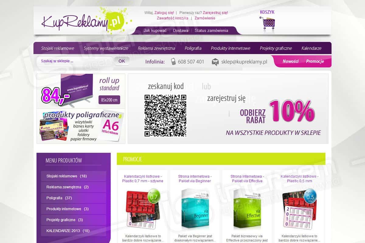 Sklep internetowy - Kup Reklamy - Systemy wystawiennicze