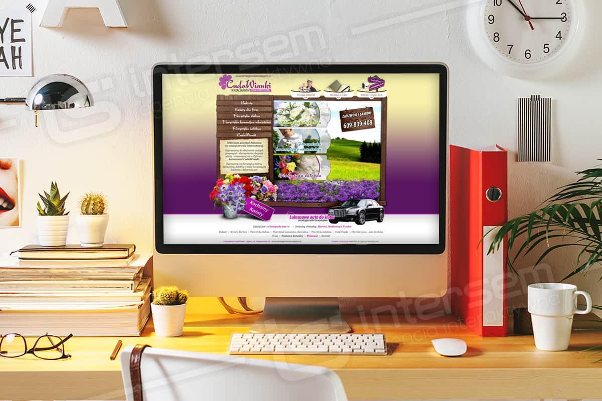 Strona internetowa - CudaWianki - Kwiaciarnia w Zgierzu