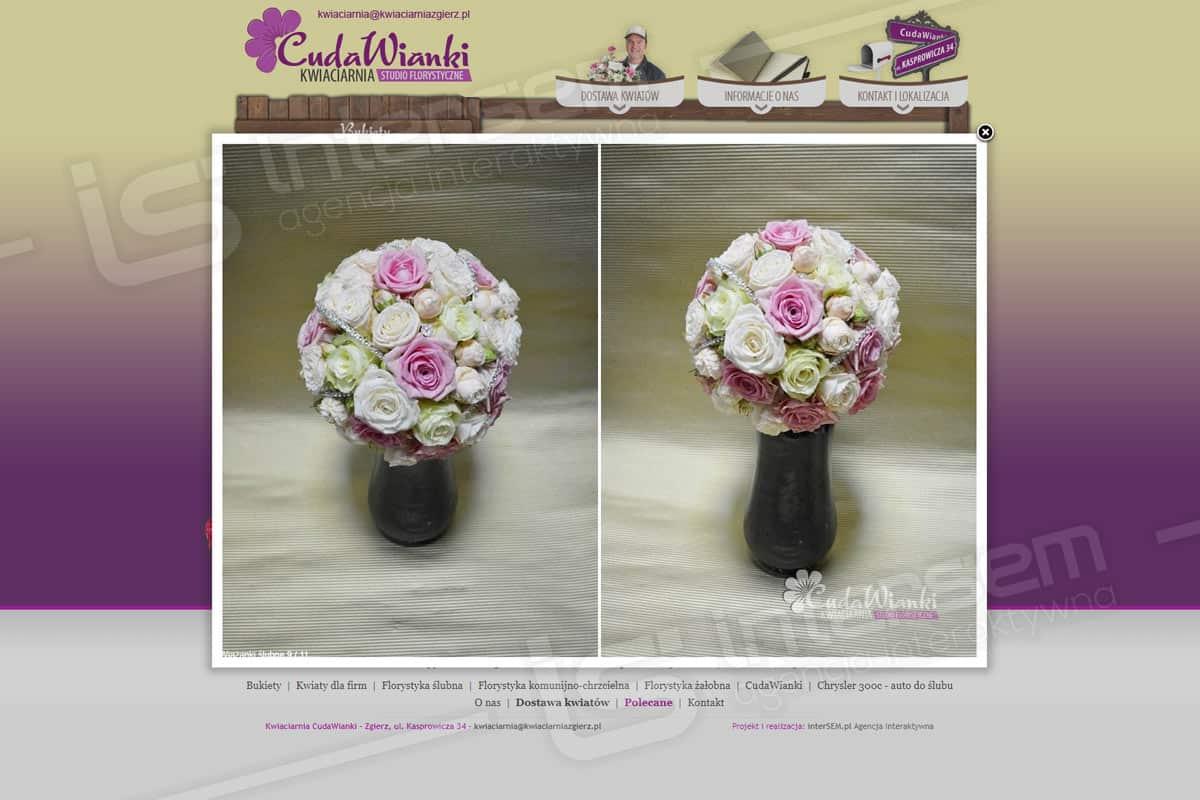 Strona internetowa - CudaWianki - Kwiaciarnia w Zgierzu - Galeria