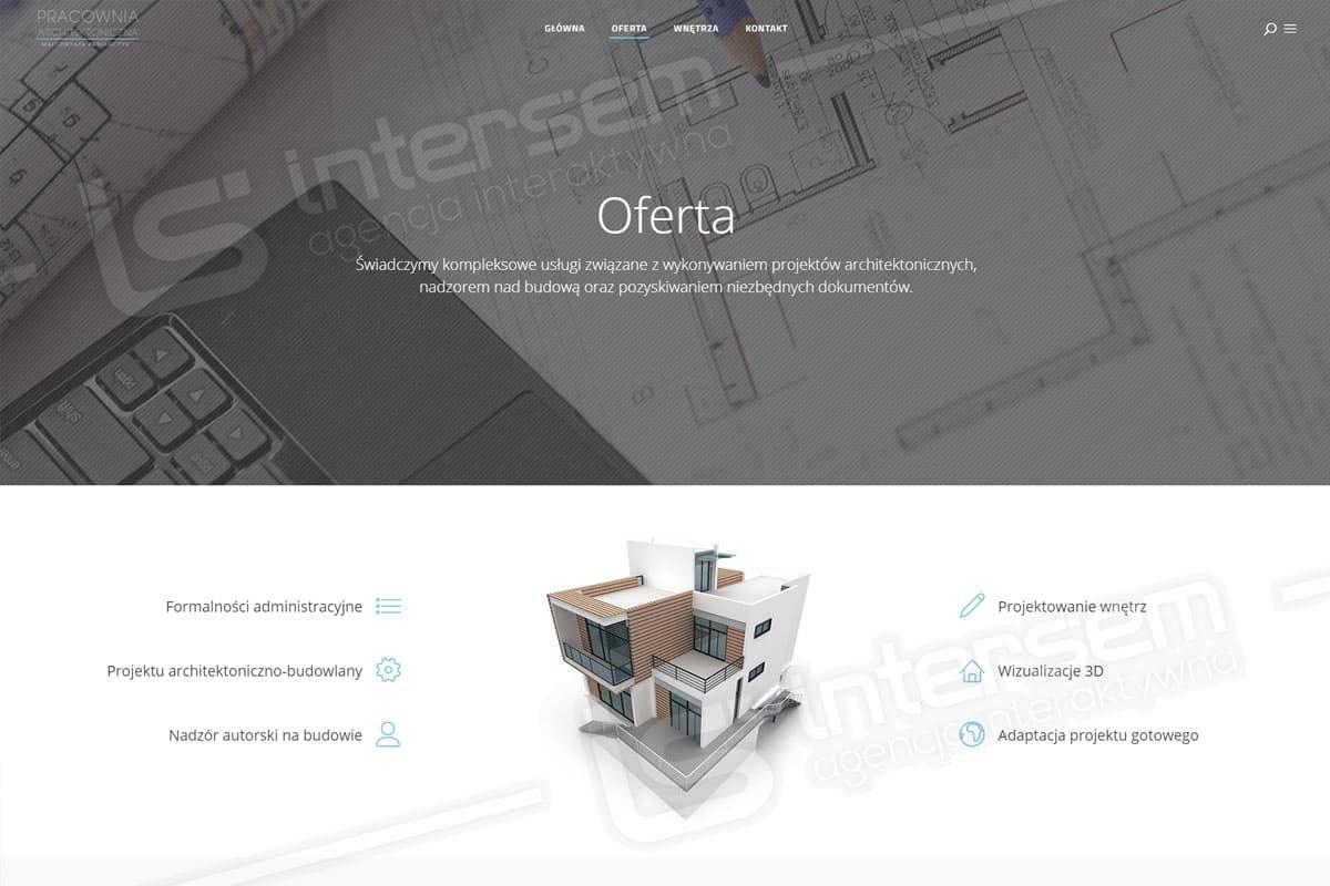 Strona internetowa - Pabiańczyk Architekt - Pracownia architektoniczna