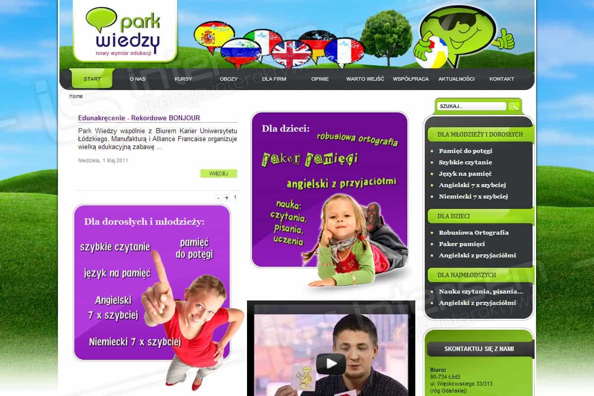 Strona internetowa - Park Wiedzy - Robusiowa Ortografia