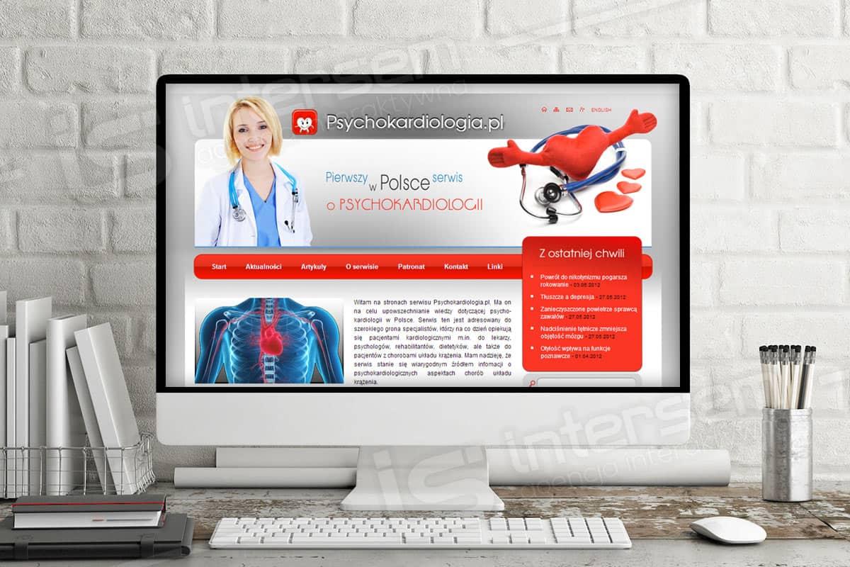 Strona internetowa - Psychokardiologia - Pierwszy w Polsce