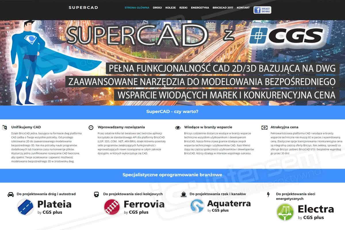 Responsywna strona internetowa - SuperCAD