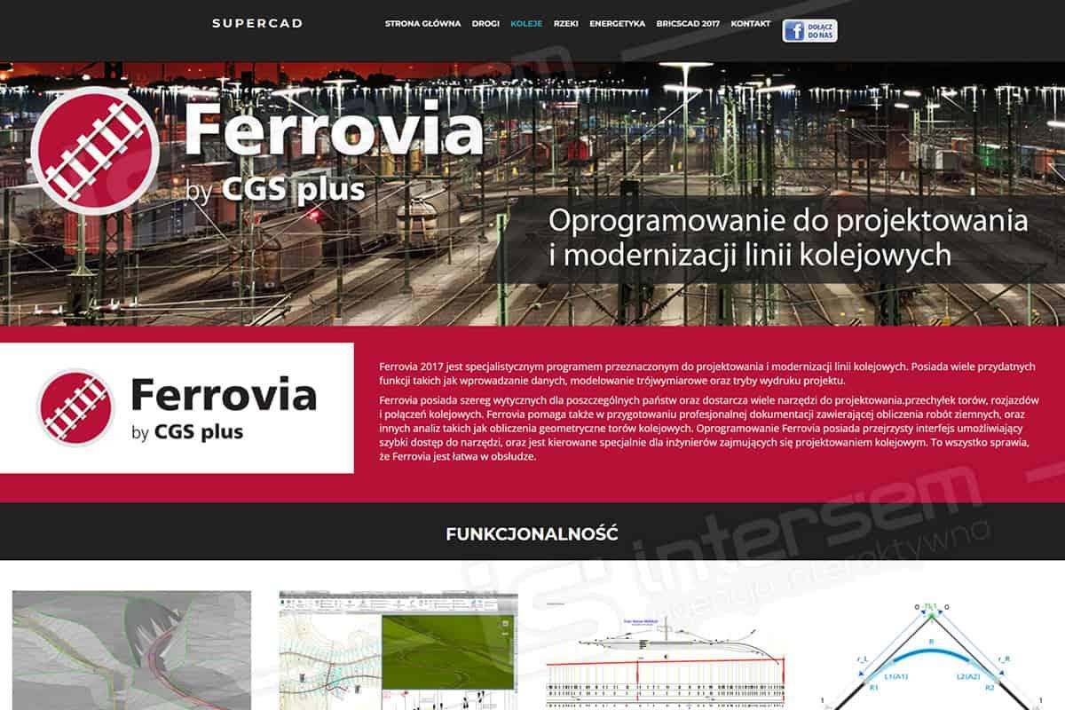 Responsywna strona internetowa - SuperCAD - Oprogramowanie Ferrovia