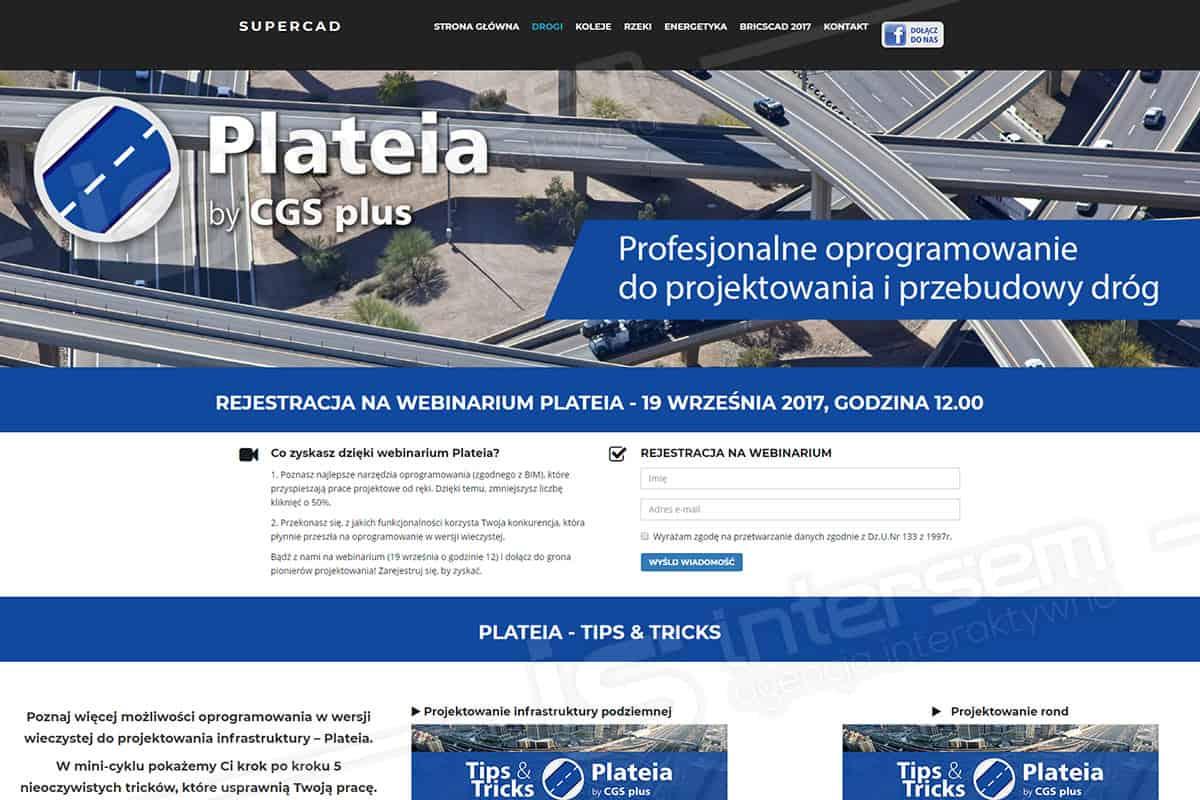 Responsywna strona internetowa - SuperCAD - Oprogramowanie Plateia