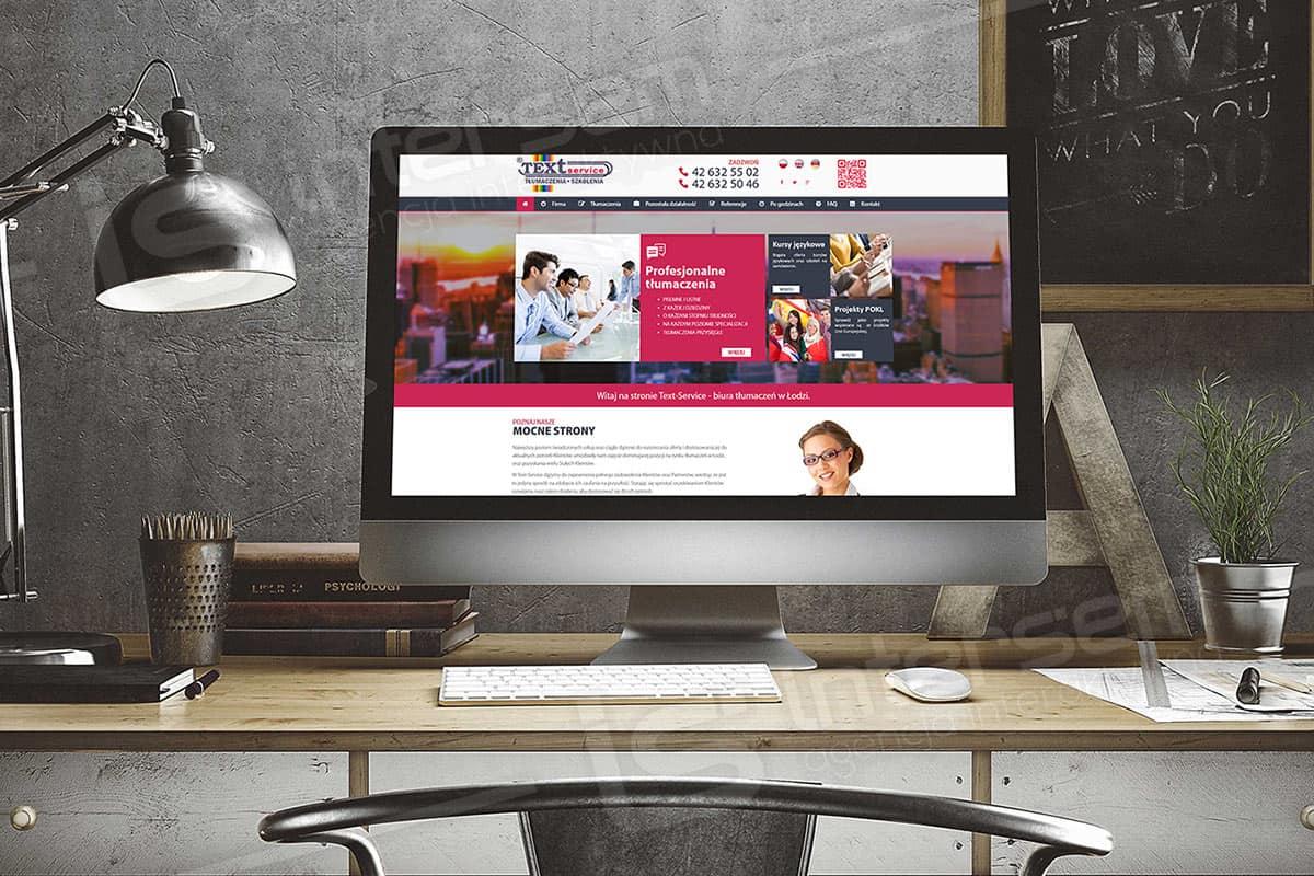 Responsywna strona internetowa - Text Service
