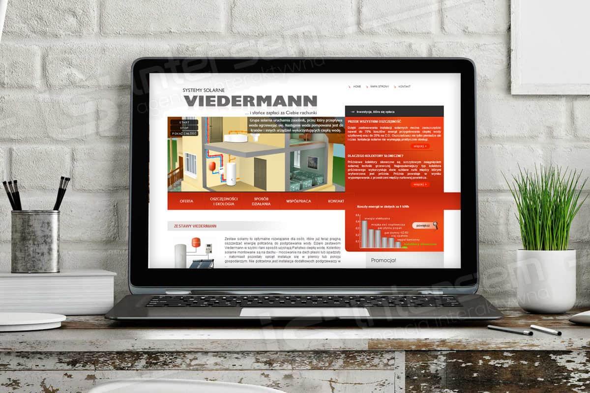 Strona internetowa - Viedermann - Systemy solarne