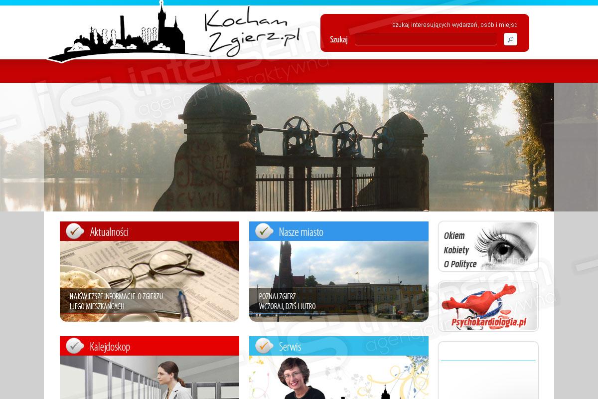 Portal internetowy - KochamZgierz.pl