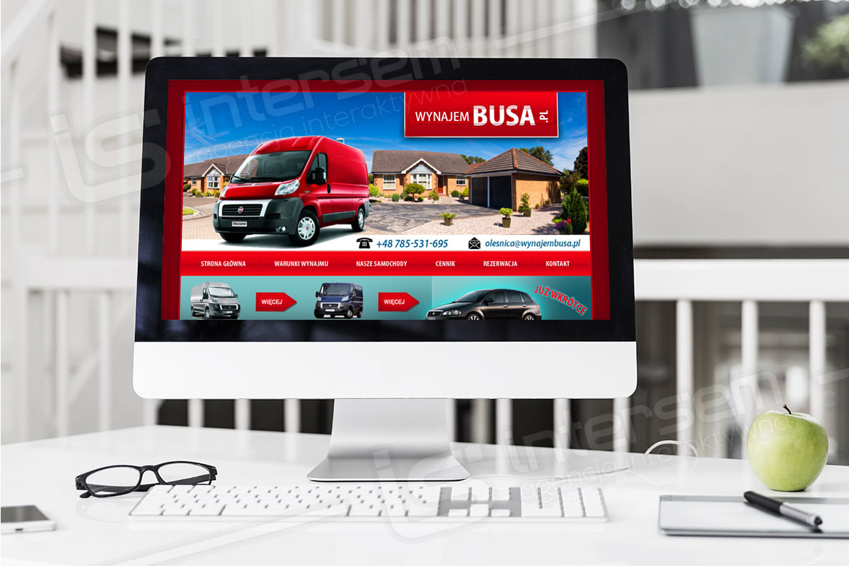 Strona internetowa - WynajemBusa.pl