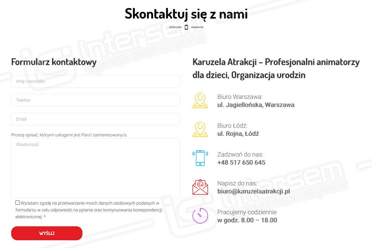 KaruzelaAtrakcji.pl - Formularz kontaktowy