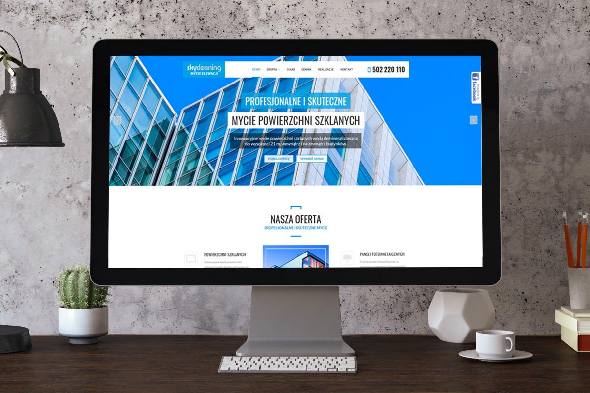 SkyCleaning - Mycie elewacji budynków, powierzchni szklanych, paneli fotowoltaicznych, dachów, żaluzji i rolet.